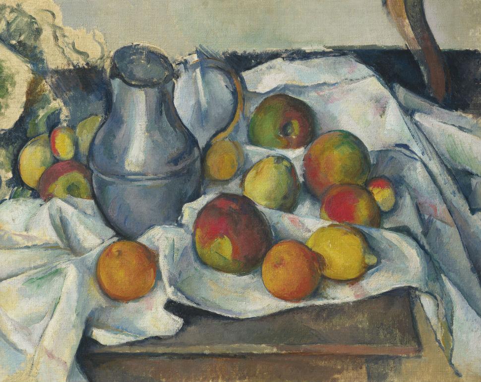 1-Поль Сезанн - Кувшин и фрукты.jpg