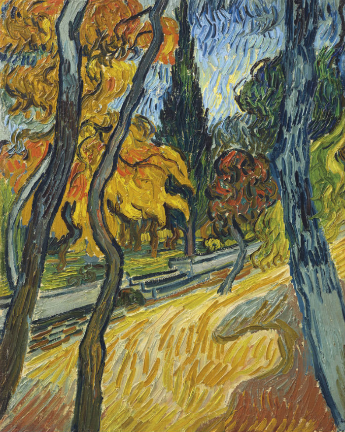 3-Винсент ван Гог - Деревья в приютском саду - 1889.jpg