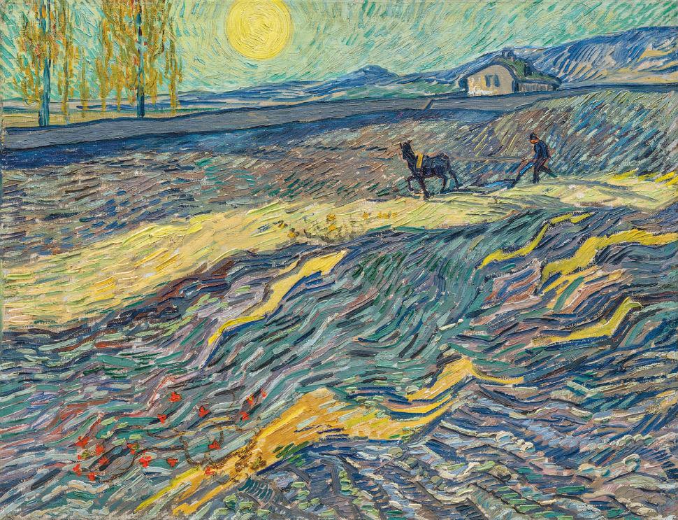 4-Винсент Ван Гог - Вспаханное поле и пахарь Сен-Реми - 1889.jpg