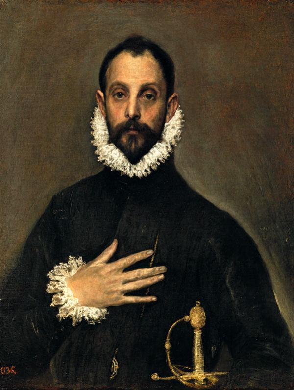 Эль Греко Рыцарь с рукой на груди.jpg
