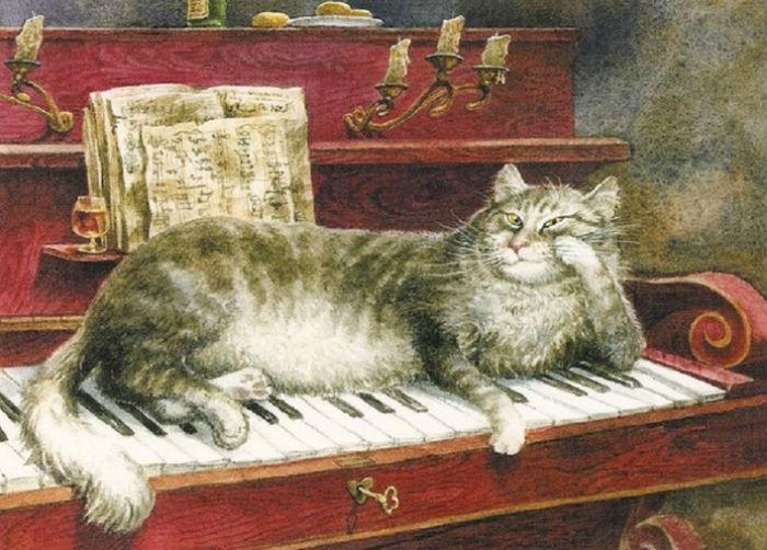 Владимир румянцев - Кот на фортепиано.jpg