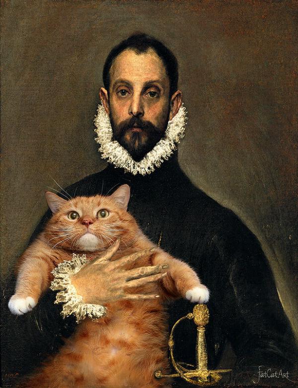 Эль Греко Рыцарь с котом на груди.jpg