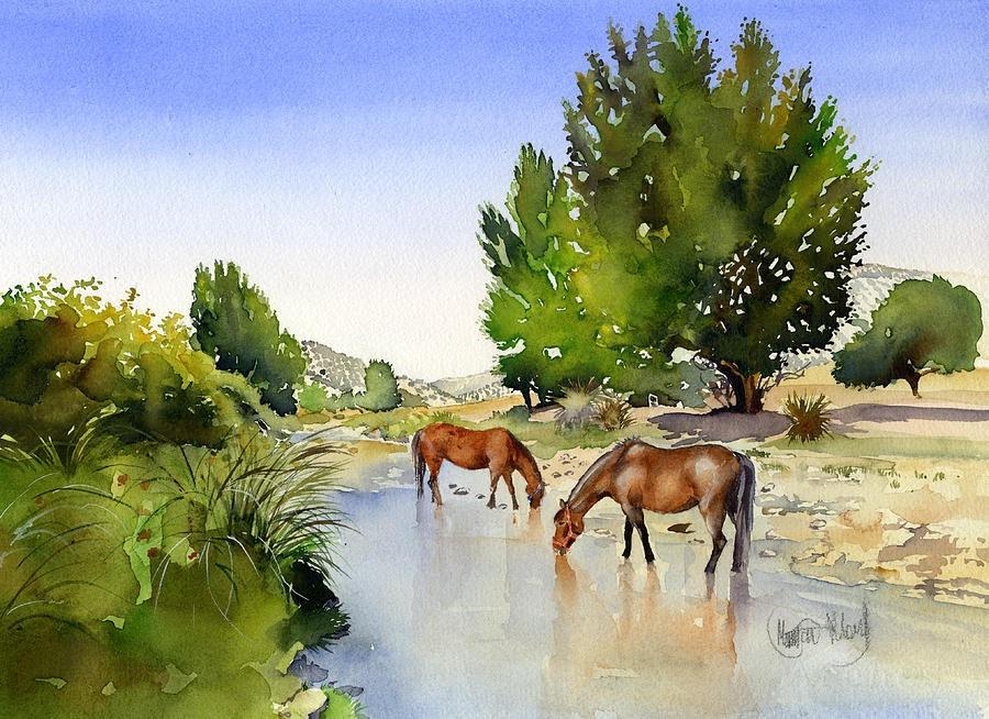 7-Лошади на реке Миланос.jpg