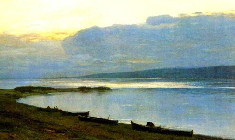 Исаак Левитан - Вечер на Волге - 1887-1888.jpg