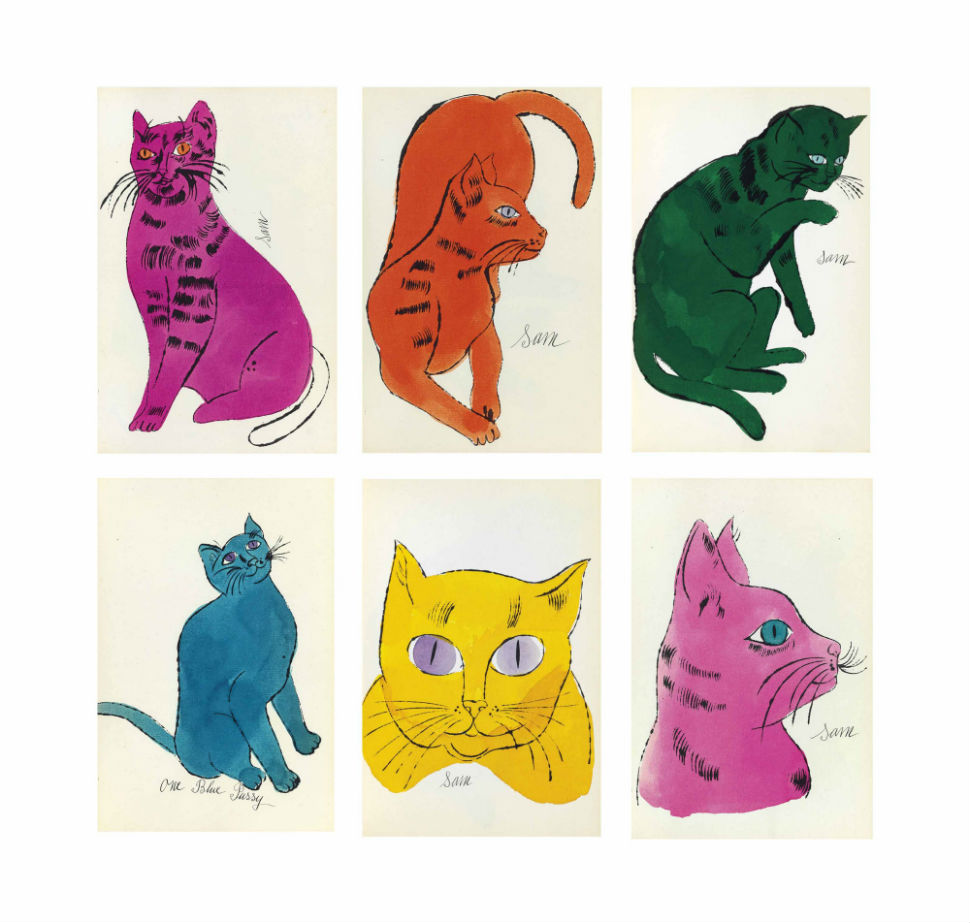 Энди Уорхол - 25 котов по имени Сэм и одна голубая кошечка.jpg