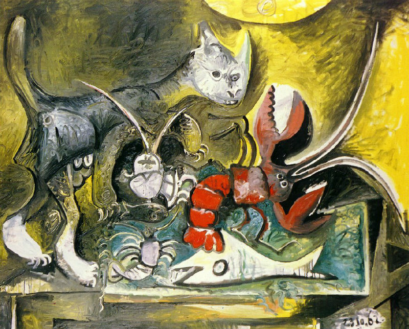 Пабло Пикассо - Натюрморт с котом и лобстером.jpg