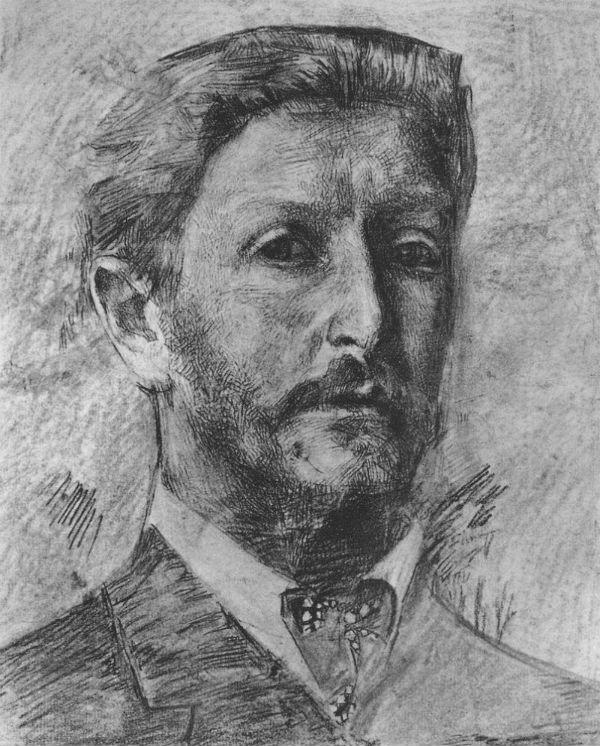 1-Михаил Врубель - Автопортрет - 1904 (бумага на картоне уголь сангина).jpg