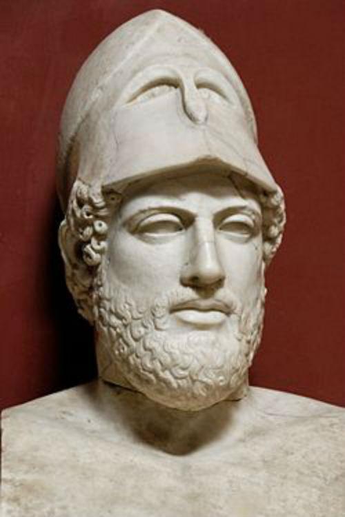 5-Перекл - марамрный бюст Кресила  - римская копия - Британский музей.jpg