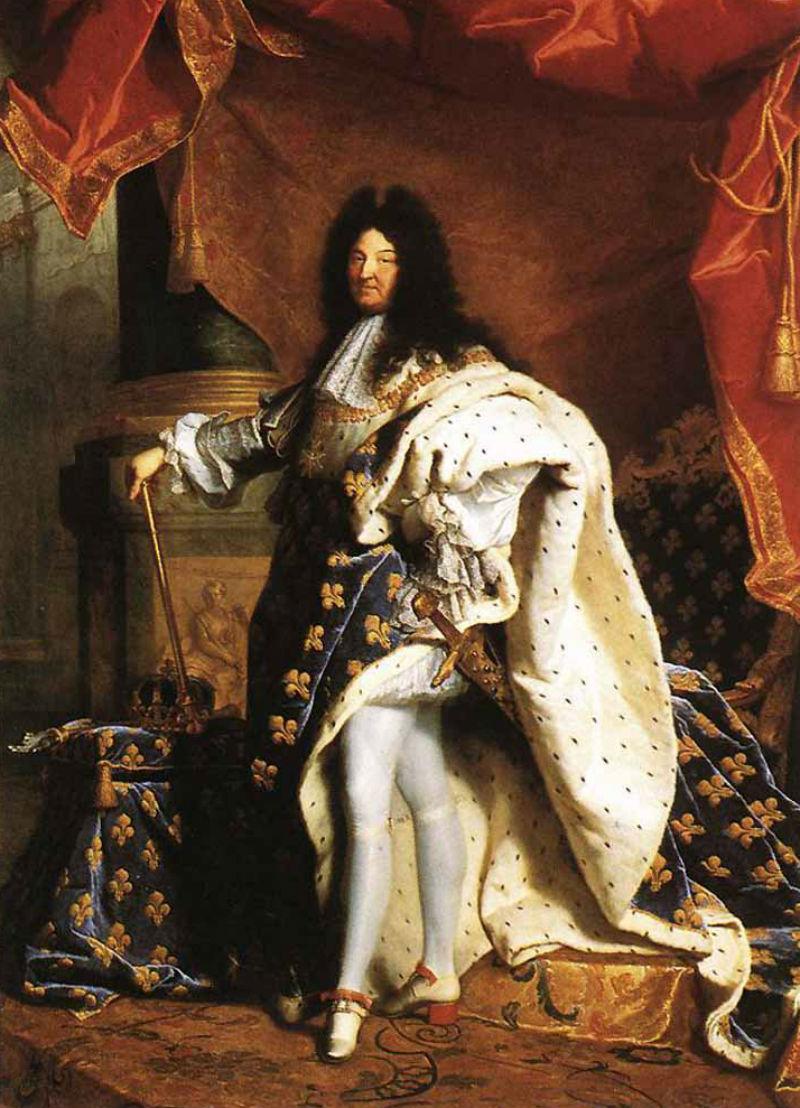 6-Гиацинт (Иасент) Риго (1659-1743) - Портрет Людовика XIV - 1701 - Лувр.jpg