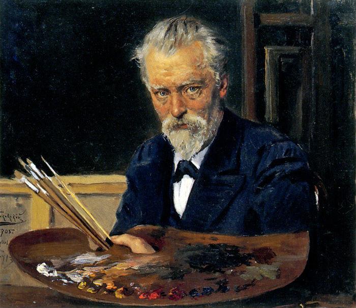 2-Владимир Маковский - Автопортрет - 1905 - Государственная Третьяковская галерея.jpg