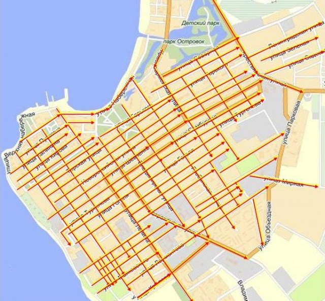 Большая часть улиц Анапы