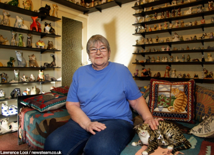Feline fanatic collects thousands of ceramic cats