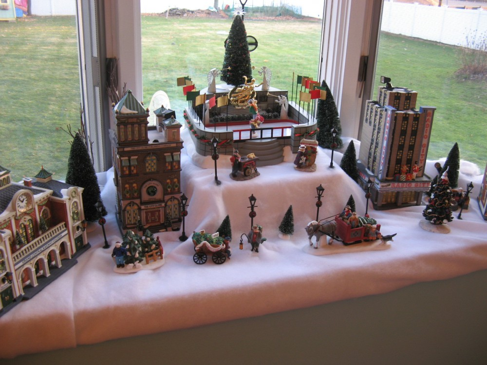 Идеи на Новый год Christmas village 09 full view
