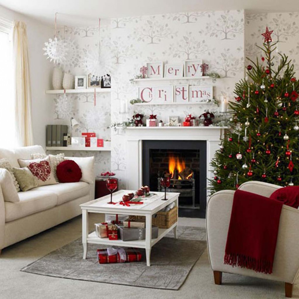 Идеи на Новый год Christmas-Holiday-Party-Decorating-Christmas-Living-Room-25