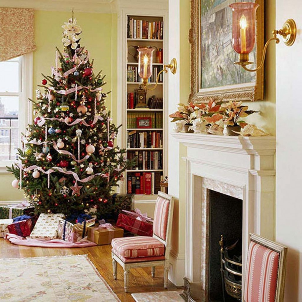 Идеи на Новый год Christmas-Holiday-Party-Decorating-Christmas-Living-Room-12