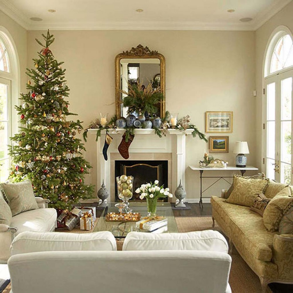 Идеи на Новый год Christmas-Holiday-Party-Decorating-Christmas-Living-Room-16