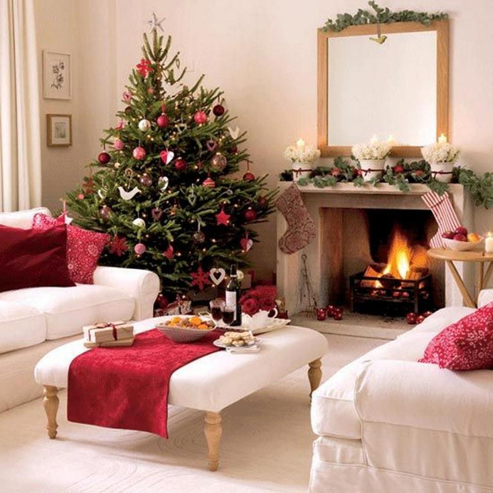 Идеи на Новый год antique-tree-decorating-ideas-for-living-room-home-design-inspiration