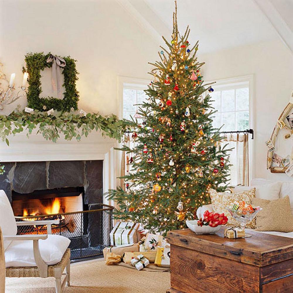 Украшения дома к рождеству фото