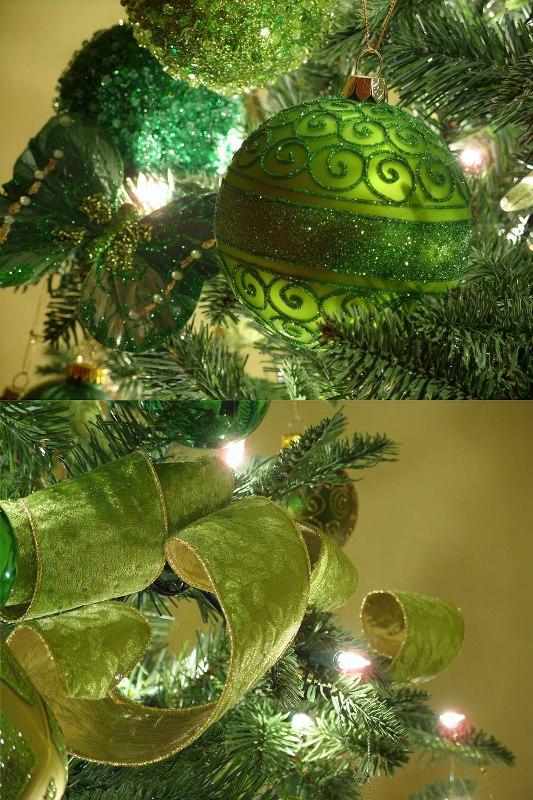 irish-green-ornaments-and-ribbon