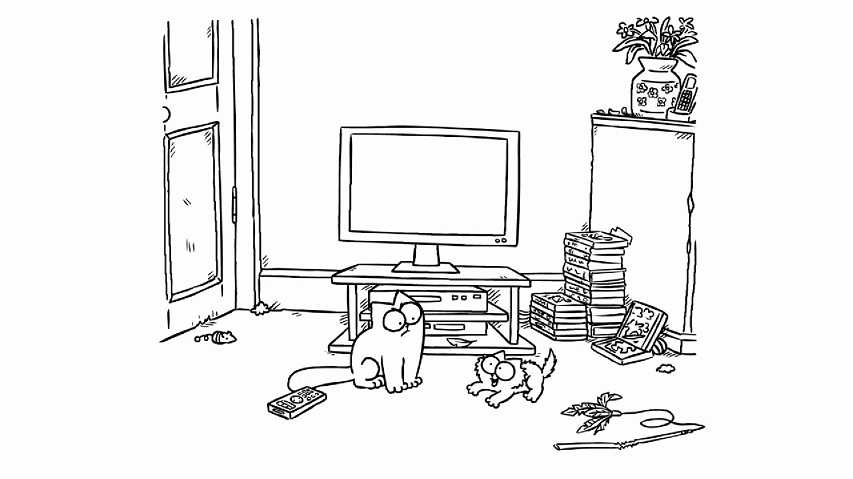 Screen Grab - Simon's Cat