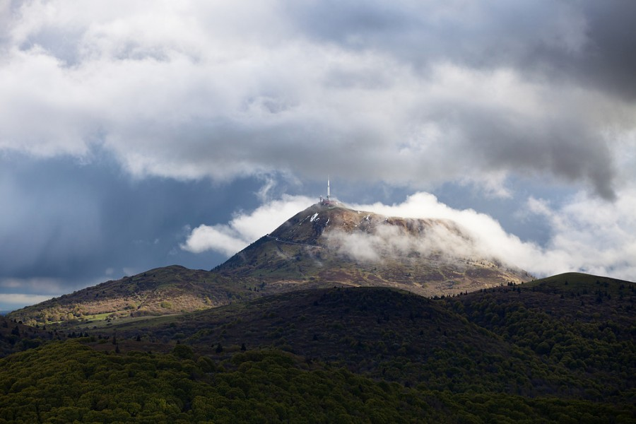 The Puy de Dome in a cloudy spring-XL