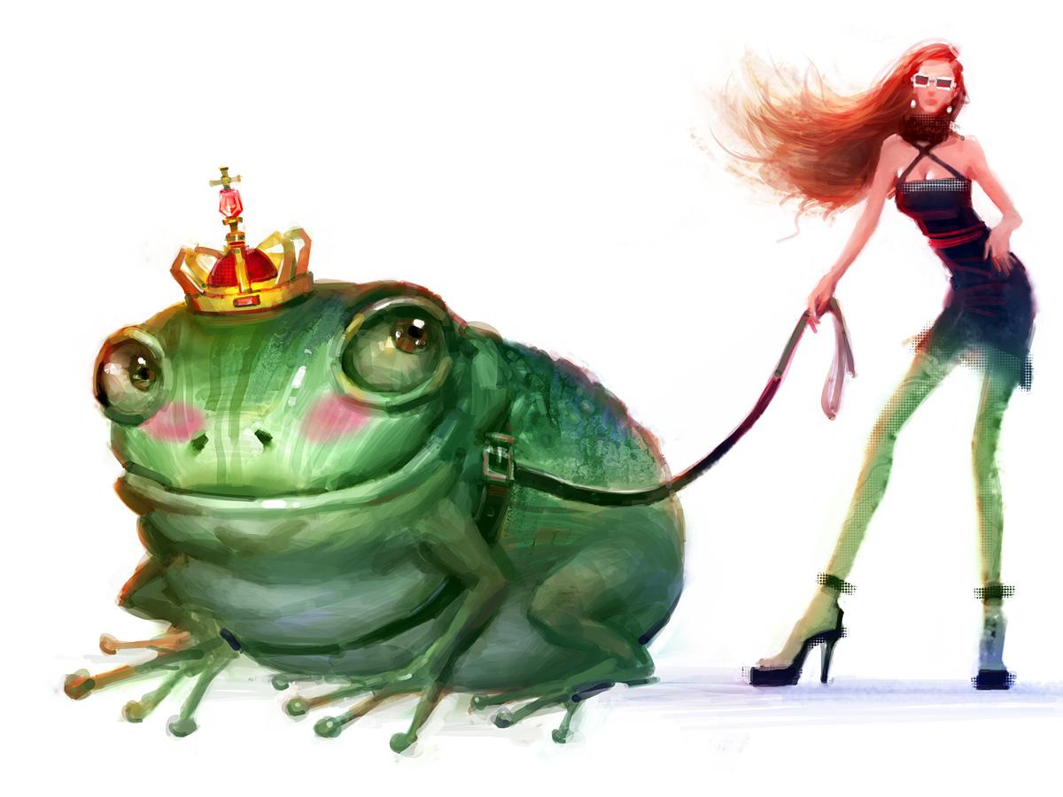 Смешные картинки принцессы и лягушки