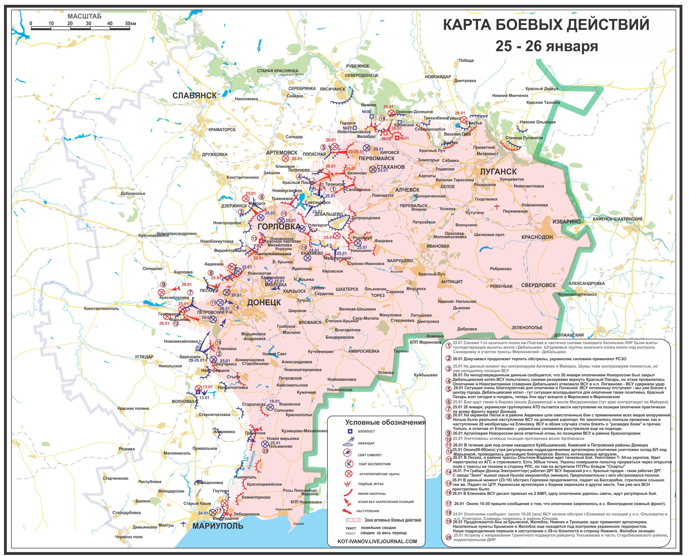 Aktuelle Lage in der Ostukraine (25.-26. Januar)