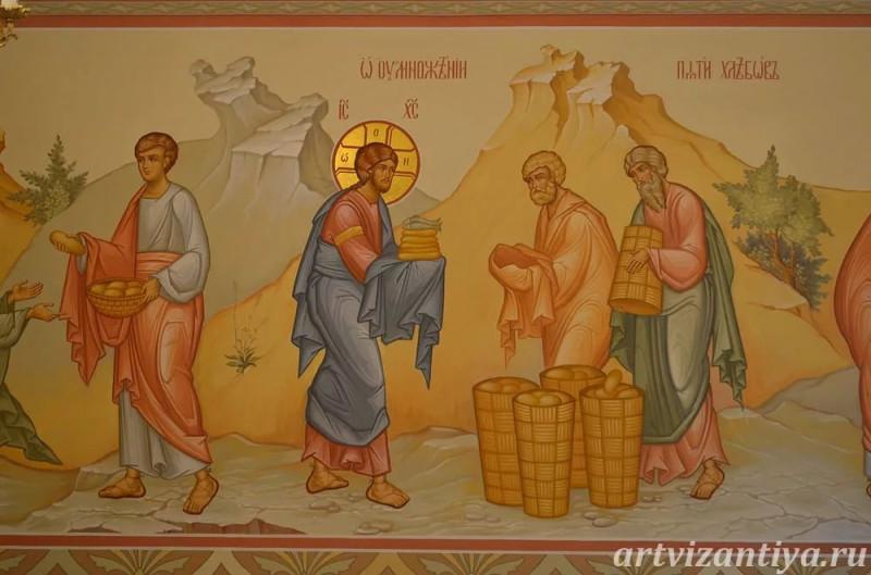 Роспись трапезной при храме в честь иконы Всех скорбящих радости в Смоленске