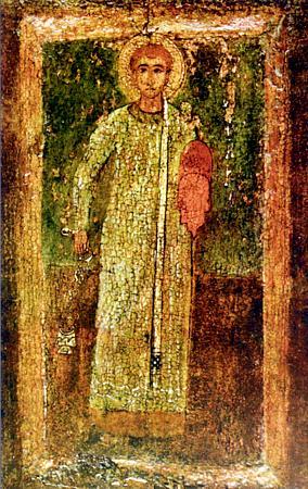 Святой первомученик Стефан.                        11 в. Киев. Мозаика.