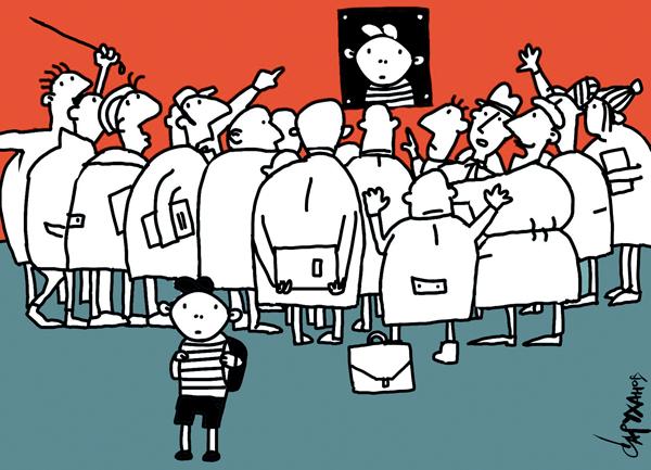 «Гуманистическая педагогика: XXI век». Карикатура с сайта Новой газеты