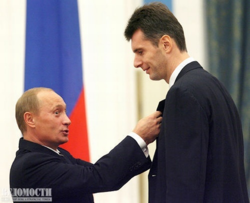 Владимир Путин, Михаил Прохоров. 2012