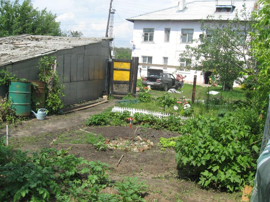 Огород соседей с другой стороны