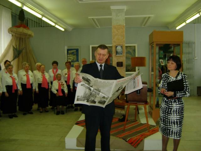 В национальном музее имени К.Герда отметили юбилей полета первого Советского космонавта Ю.А. Гагарина в космос.