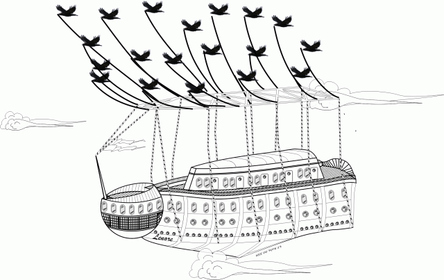 Final version of the Lenore, flagship of the Corvidian Line