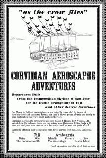 Corvidian Aeroscaphe Adventures Line poster