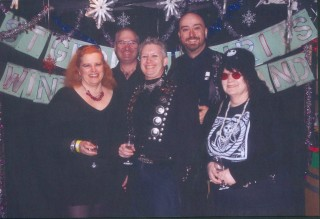 The SGSSF Goth Clique at the 2009 Fall/Winter St George Spirits Open House (with cheesy 80s prom theme)