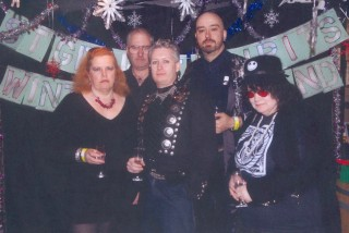 The SGSSF Goth Clique in the traditional prom 'sullen goth' pose