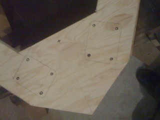 Drilling and placement template for the front casters.
