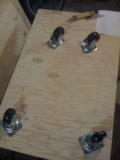 Cutting and Drilling layout for the first base plate