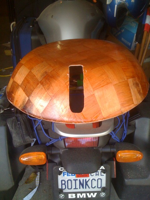 Dome with slot milled out