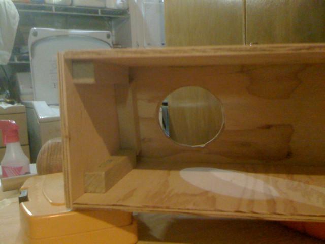 Inside view of assembled gun box