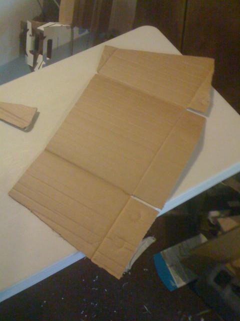 SIde/back pattern piece for shoulder cladding