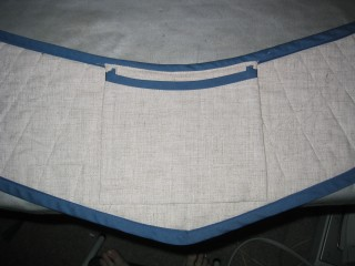 Detail of the apron pocket on the reverse