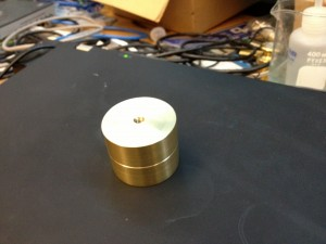 Brass Counterweight for arm, bottom