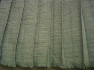 View of the insde of the pleats