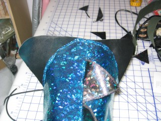 Tail sewn to mounting plate