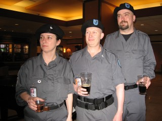 The SGSSF TAC Squad 21 back on the job at the Sunday post-convention pub party