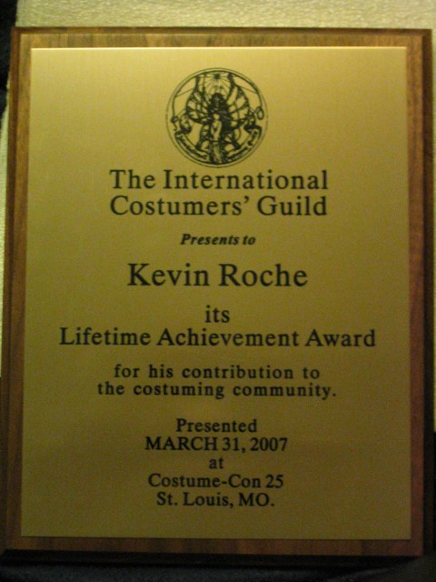 ICG Lifetime Achievement Award Plaque