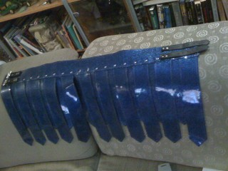 The completed new shiny kilt!