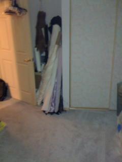 Closet door. Nothing in front of it!